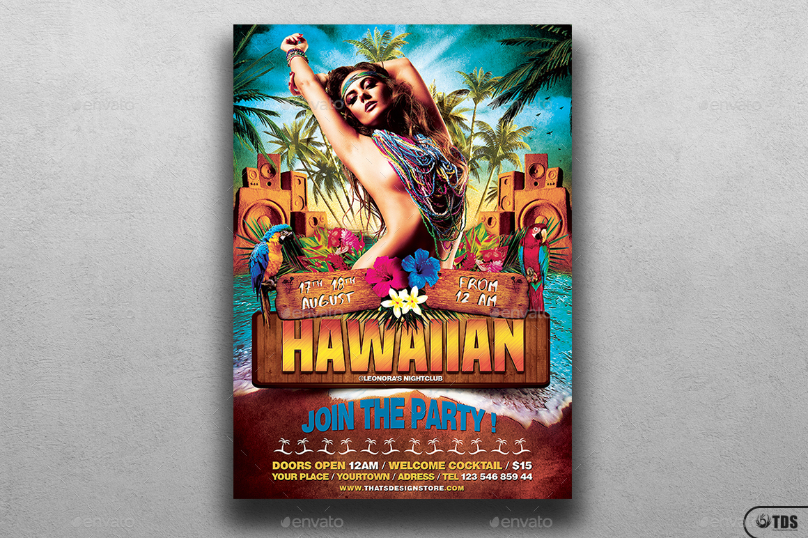 Beach Party Flyer Template V5 by lou606 – Beach Party Flyer Template
