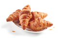 croissants on white plate