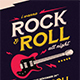 Rock And Roll All Night Music Flyer