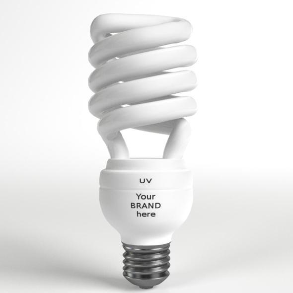 3DOcean GE-style Fluorescent Light Bulb 19862183