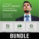 4 Corporate Business Flyer Templates Bundle V2