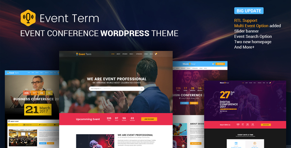Event Term- Single & Multiple Event, Conference WordPress Theme