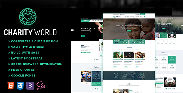Charity World - Multipurpose Non-profit HTML5 Template