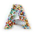Letter A. Set of alphabet of medicine pills, capsules, tablets a
