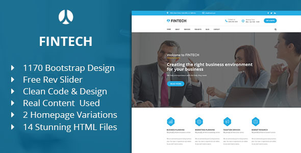Fintech - Business, Finance & Corporate HTML Template