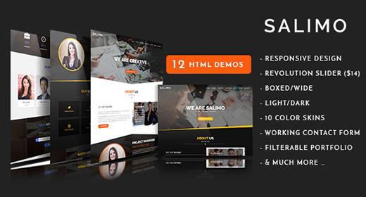 Salimo - Creative One Page Template