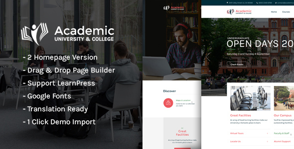 Academic - Education WordPress Theme