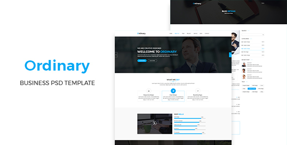 Ordinary - Corporate PSD Template