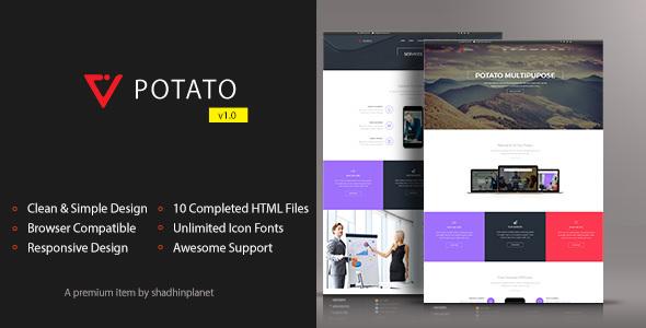 Potato - HTML5 Responsive Template