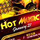 Hot Music Night Party Flyer - GraphicRiver Item for Sale