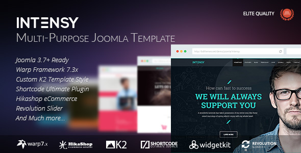 Intensy - Multipurpose Joomla Template