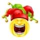 Laughing Jester Emoticon Emoji