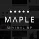 Maple - чистая тема для любых целей на WordPress