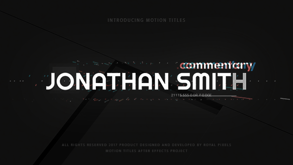 Motion titles maker technology after effects templates for Motion 5 title templates