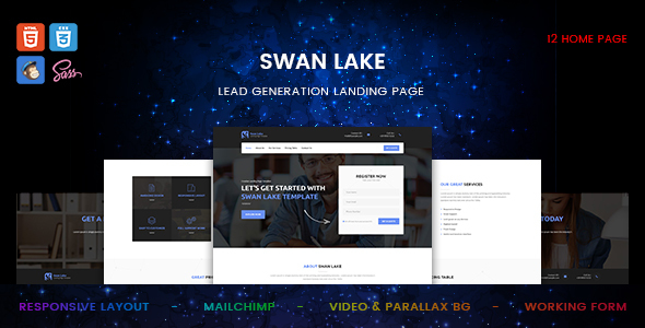 Swan Lake - Lead Generation Marketing Landing Page
