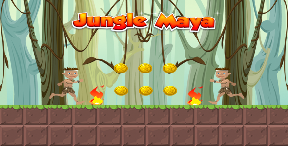 Jungle Maya - With  Admob + facebook ads + heyzap  (Android Studio + Eclipse)