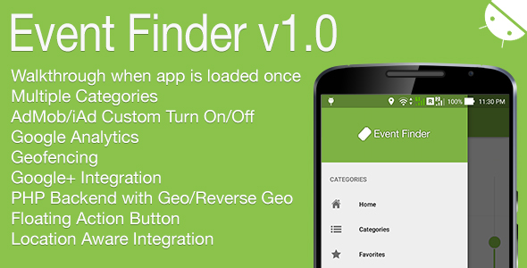 Event Finder Full Android Application v1.0