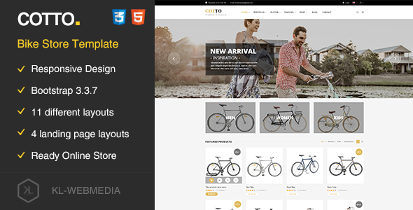 Image of Cotto - Bike Store HTML5 template
