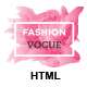 Fashion Vogue - HTML Template for Modelling Agency and Portfolio with Page Builder & Dashboard HTML