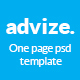 advize_onepage PSD template