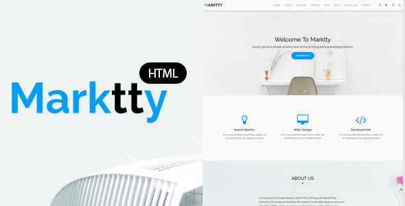 Marktty Creative Agency HTML Template