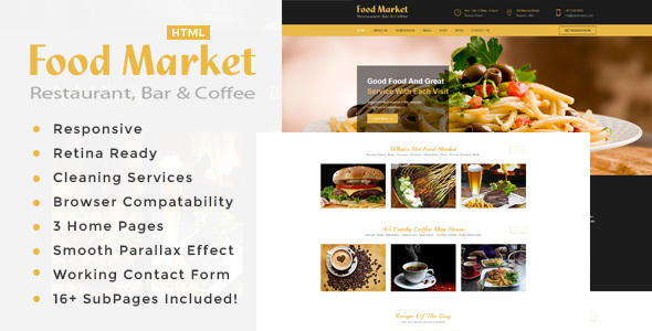 Image of The Food Market | Restaurant HTML Template