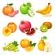 Cartoon Healthy Fruits Set