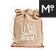 Drawstring Bag / Burlap Jute Mock-up