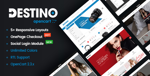 Destino – Sophisticated &amp Higher Customizable eCommerce OpenCart two.three Theme (OpenCart)