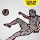 11 Vector Soccer Action Shots