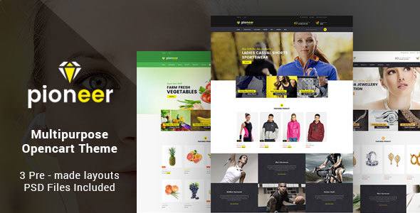 Pioneer – Responsive Multipurpose Opencart Theme | Sportswear Retailer | Jewellery Retailer | Meals Retailer (OpenCart)
