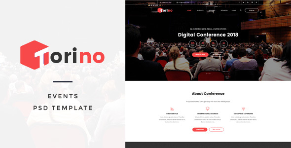 Torino - Events PSD Template