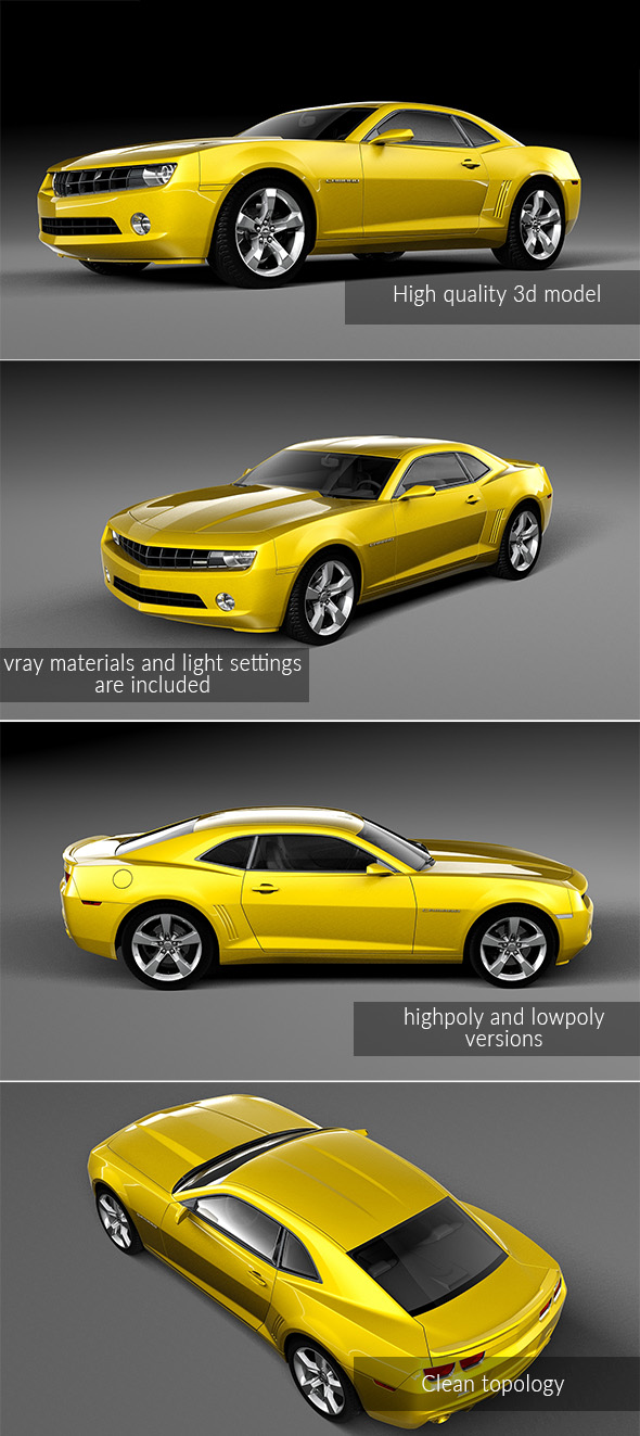 Chevrolet Camaro - 3DOcean Item for Sale
