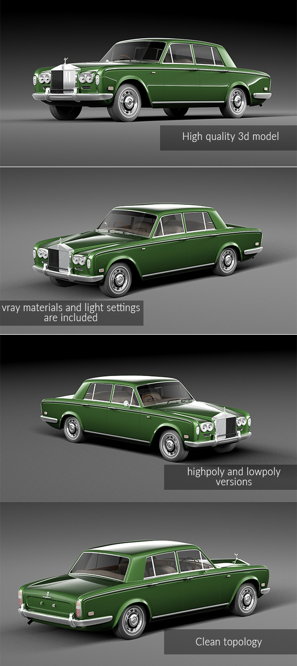 Rolls Royce Silver Shadow 1965 - 3DOcean Item for Sale