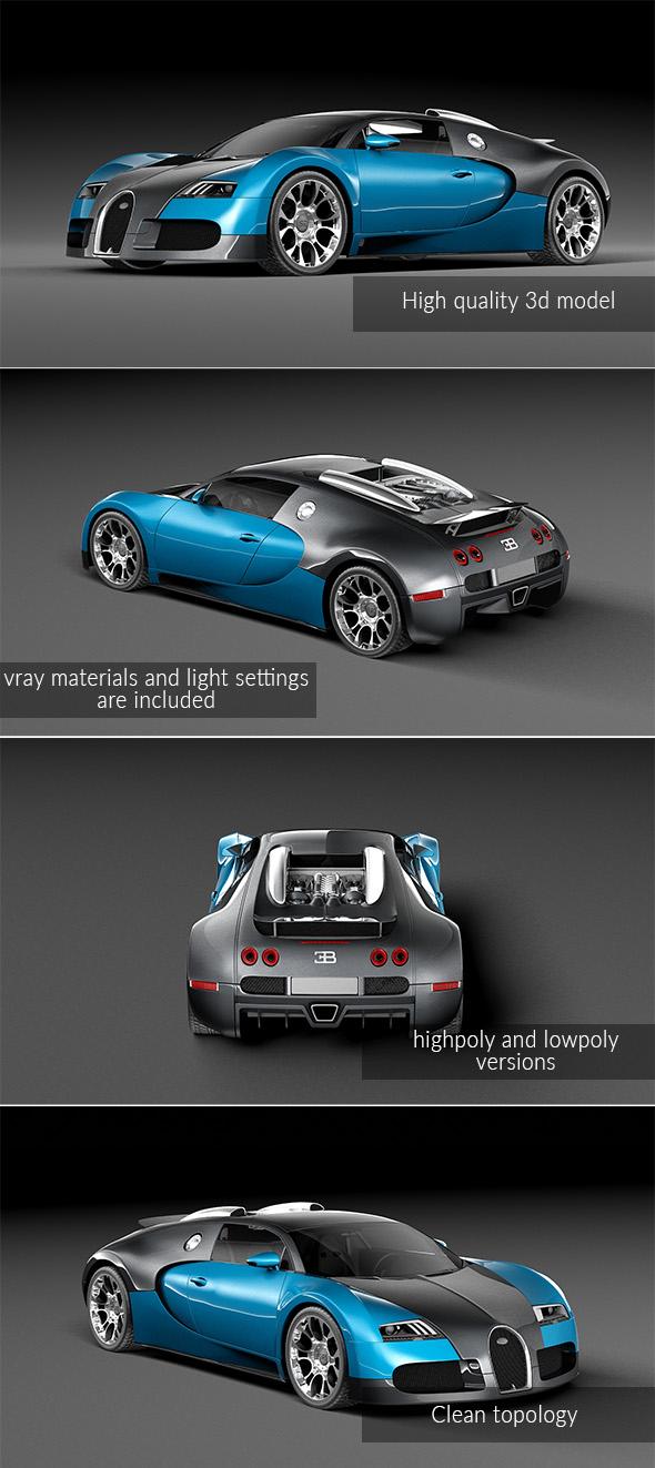 Bugatti Veyron Grand Sport - 3DOcean Item for Sale