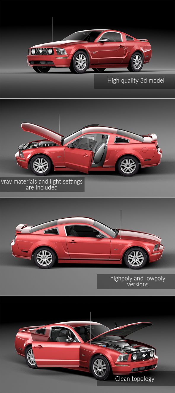 Ford Mustang GT 2005 - 3DOcean Item for Sale
