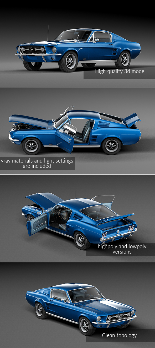 Ford Mustang 1967 - 3DOcean Item for Sale
