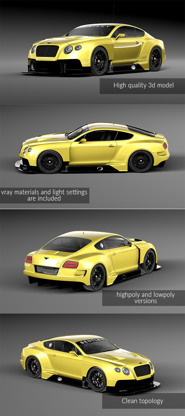 Bentley Continental GT3 - 3DOcean Item for Sale