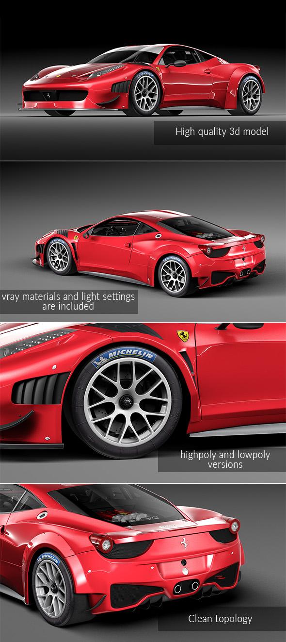 Ferrari 458 GT3 - 3DOcean Item for Sale