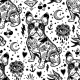 Vintage Traditional Tattoo Flash Seamless Pattern