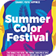 Summer Color Fest 2 Template