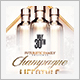White and Gold Champagne Party Flyer