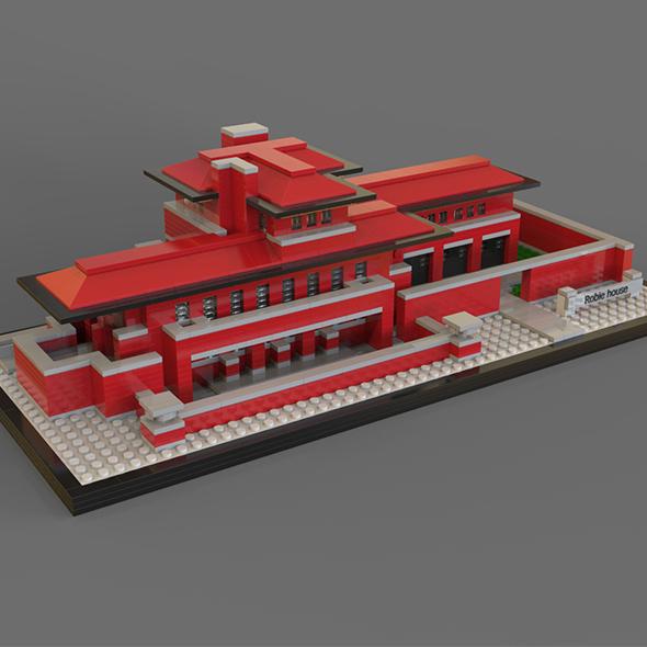 3DOcean Lego Robie house 19878144