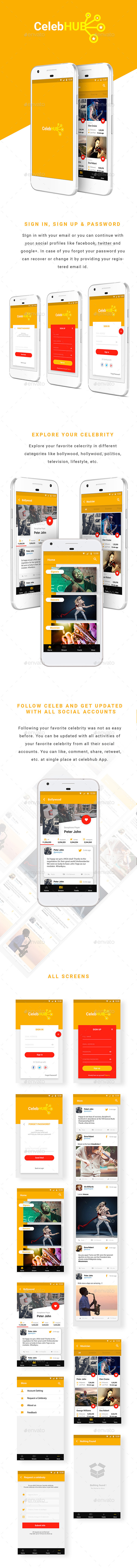 Social Media Celebrity Stream (User Interfaces)