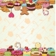 Colorful Hand Drawn Pastry Background