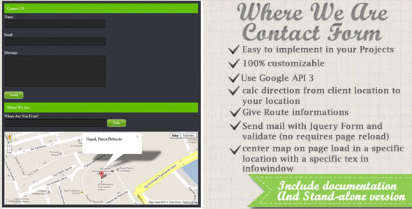 Where We Are Contact Form v.1.0