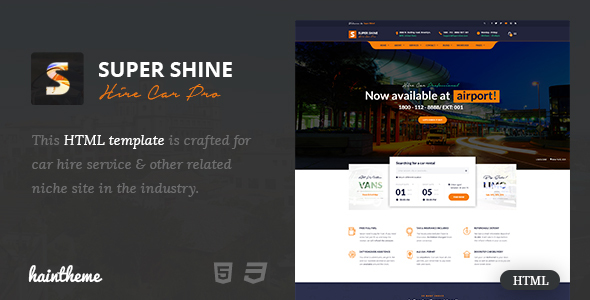 Supershine - Car Rental HTML Template