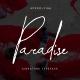 Paradise   Signature Typeface