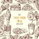 Hand Drawn Fast Food Background Illustration