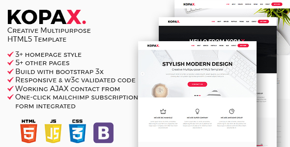 Kopax - Creative Multipurpose HTML5 Template